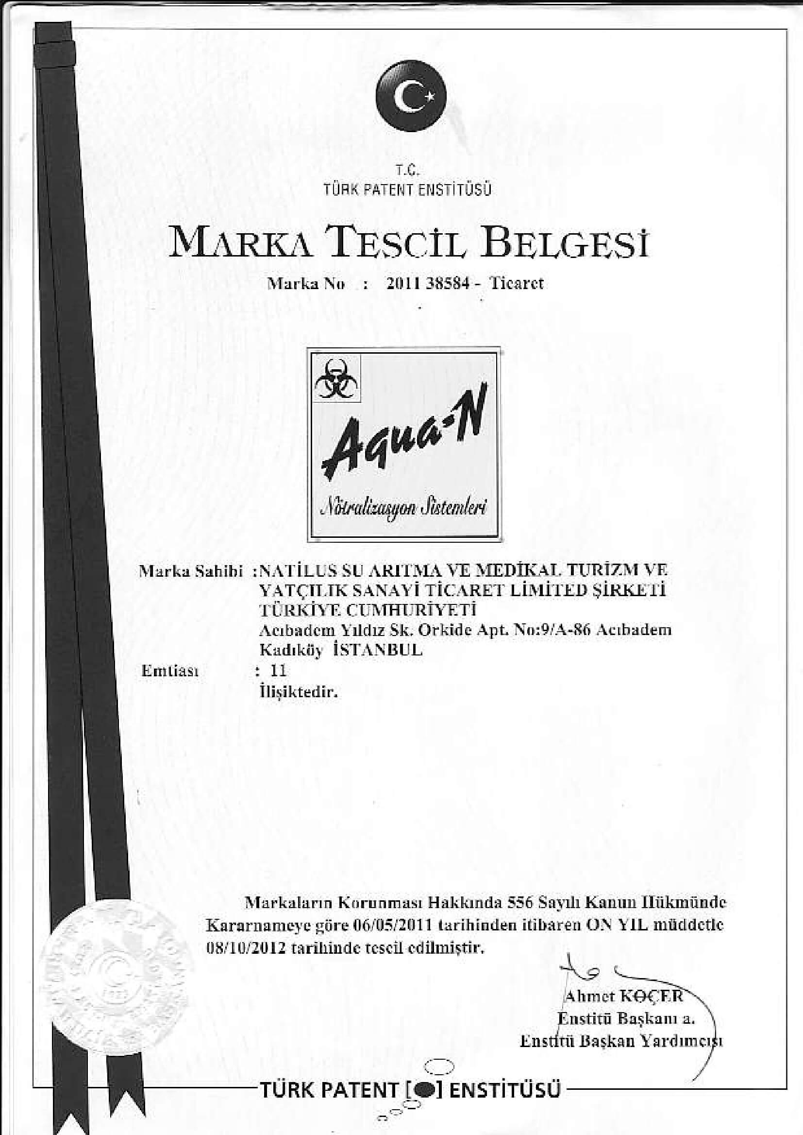 marka-tescil Agua-N-1